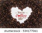 background made of coffee beans ... | Shutterstock . vector #534177061