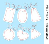 Vector Blank Gift Tags Set