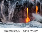 molten lava flowing into the... | Shutterstock . vector #534179089