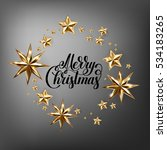 holiday background with golden... | Shutterstock . vector #534183265