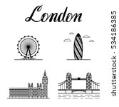 london city line art landmarks... | Shutterstock .eps vector #534186385