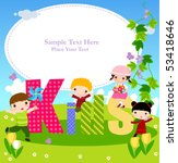 kids and frame | Shutterstock .eps vector #53418646