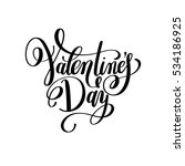 black and white valentine's day ... | Shutterstock . vector #534186925