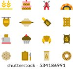 bread   bakery color flat icons | Shutterstock .eps vector #534186991