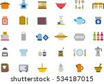 kitchen color flat icons | Shutterstock .eps vector #534187015