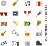 music color flat icons | Shutterstock .eps vector #534187669