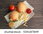 delicious cheeseburgers with... | Shutterstock . vector #534187849