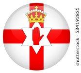 northern ireland glossy button... | Shutterstock .eps vector #534192835