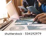 business team meeting. photo...   Shutterstock . vector #534192979