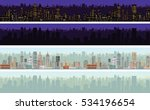 seamless cityscape day  night... | Shutterstock .eps vector #534196654