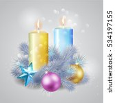christmas composition with a... | Shutterstock .eps vector #534197155