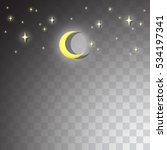 stars and the moon on a... | Shutterstock .eps vector #534197341