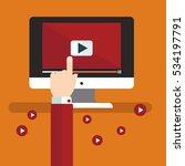 video tutorials concept flat... | Shutterstock .eps vector #534197791