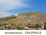 a view of old town homes and... | Shutterstock . vector #534199615