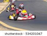 adult go kart racers on track.  ... | Shutterstock . vector #534201067