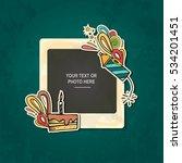 photo frame album template for... | Shutterstock .eps vector #534201451