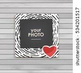 photo frame album template for... | Shutterstock .eps vector #534201517