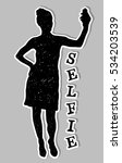 girl black silhouette taking... | Shutterstock .eps vector #534203539