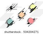 set of colorful vector shapes.... | Shutterstock .eps vector #534204271