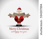greeting card  santa claus  ...