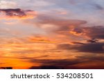 colorful dramatic sky with... | Shutterstock . vector #534208501