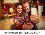 young man and woman taking... | Shutterstock . vector #534208774