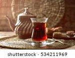turkish tea in traditional... | Shutterstock . vector #534211969