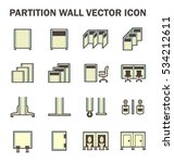 vector icon of partition wall... | Shutterstock .eps vector #534212611