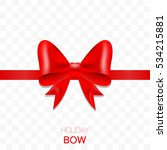 red bow for holidays. gift knot ... | Shutterstock .eps vector #534215881
