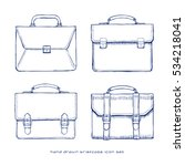 briefcase hand drawn icons set  ... | Shutterstock .eps vector #534218041