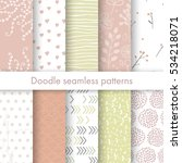 set of vector spring patterns... | Shutterstock .eps vector #534218071