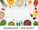 brown rice  ruby and black rice ...   Shutterstock . vector #534222325