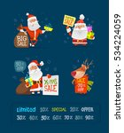 set of christmas characters... | Shutterstock .eps vector #534224059