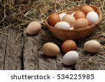Hen Eggs Basket   Fresh Farmer...