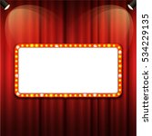theater cinema sign with... | Shutterstock .eps vector #534229135