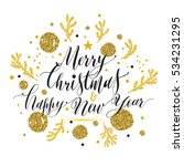 new year lettering  hand drawn... | Shutterstock .eps vector #534231295