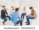 group of people actively making ... | Shutterstock . vector #534236215