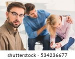 couple sitting in office of... | Shutterstock . vector #534236677