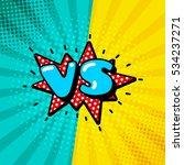 versus letters or vs logo... | Shutterstock .eps vector #534237271