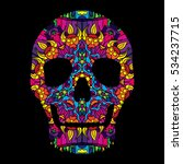 day of the dead psychedelic... | Shutterstock .eps vector #534237715