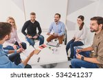 group of people talking over | Shutterstock . vector #534241237