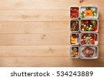 healthy restaurant food...   Shutterstock . vector #534243889