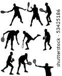 detailed  tennis players... | Shutterstock .eps vector #53425186