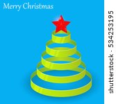 green christmas tree from... | Shutterstock .eps vector #534253195