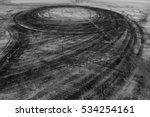 car drift skid marks | Shutterstock . vector #534254161