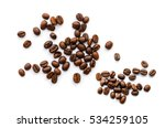 coffee beans. isolated on white ... | Shutterstock . vector #534259105