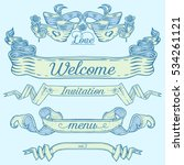 set of old vintage banners and... | Shutterstock .eps vector #534261121