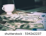 working place of trader. the...   Shutterstock . vector #534262237