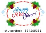 holiday label with greeting... | Shutterstock . vector #534265381