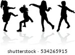 vector silhouette of children... | Shutterstock .eps vector #534265915